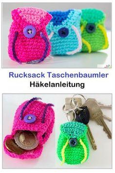 Rucksack Taschenbaumler – crochet pattern – The Best Ideas Poncho Knitting Patterns, Crochet Patterns, Tree Bag, Mochila Crochet, Knit Crochet, Crochet Hats, Macrame Bag, Crochet Instructions, Crochet Purses