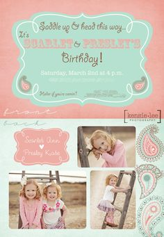 Cowgirl Birthday Party | 2 & 4 year old sisters | Kensie Lee Photography - kensielee photography