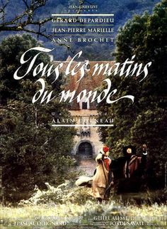 Tous les Matins du Monde 1991 - The viola da gamba player Monsieur de Sainte Colombe comes home to find that his wife died while he was away. In his grief he builds a small house in his garden into wich he moves to dedicate his life to music and his two young daughters Madeleine and Toinette, avoiding the outside world. Rumor about him and his music is widespread, and even reaches to the court of Louis XIV, who wants him at his court in Lully's orchestra, but Monsieur de Sainte Colombe…