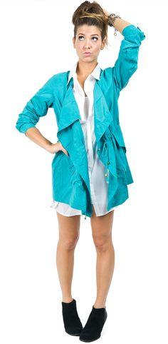 Turquoise draped adirondak !!