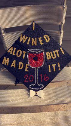 "2016 Graduation Cap I made for My best friend! ✨ ""I WNED A LOT BUT I MADE IT!  ✨ UniqueCreations Graduation 2016, Graduation Cap Designs, Graduation Cap Decoration, Graduation Photos, Graduation Caps, Graduation Ideas, Cap Decorations, Dance It Out, Diy Wardrobe"