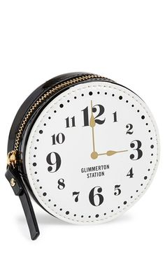 kate spade new york 'all aboard - clock' coin purse available at #Nordstrom