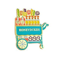 Image of Harry Potter Honeydukes Candy Trolley Enamel Pin Harry Potter Candy, Harry Potter Pin, Harry Potter Images, Jacket Pins, Cool Pins, Bijoux Diy, Pin And Patches, Disney Pins, Stickers