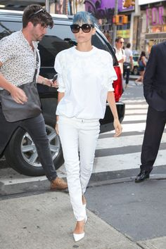 The Top Celebrity All-White Looks of the Summer: Kate Middleton, Michelle Obama and Rihanna Show Us How it's Done – Vogue - Nicole Richie in a Givenchy top and Manolo Blahnik shoes