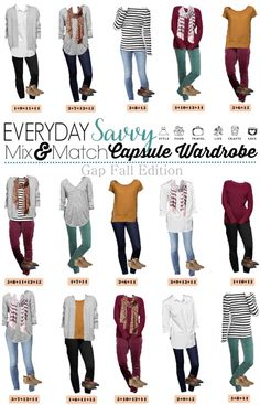 Check out this new Gap capsule wardrobe for fall. It includes fun colored cords…