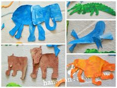 Eric Carle Art Activity: Zoo Animal Puzzles on hands on : as we grow