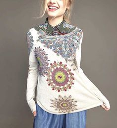 Desigual Ivory Sweater Holly, Fall 2016