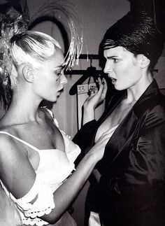 Kate Moss and Stephanie Seymour, 1996
