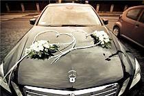 dekoracja samochodu  dekoracja auta na ślub Człuchów