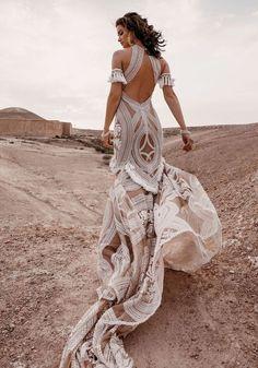 21 Boho Wedding Dresses to Blow Everyone Away | Kabuki Rune Lace Bridal, Bridal Style, Wedding Robe, Wedding Gowns, Wedding Shoes, Lace Wedding, Beach Wedding Groom Attire, Wedding Ceremony, Wedding Band