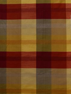 3124 B #check-plaid-stripe #red-pink-purple #silk #woven-fabrics #yellow-gold