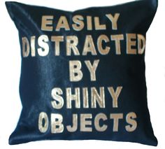 Custom Personailzed Denim and Leather  Letter Pillow by bambina, $75.00