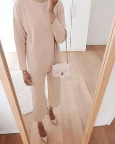 """@steffysstyle on Instagram: """"A minimal Studio Max Mara set that can be worn casually at home or """"dressed up"""" for when things get back to """"normal"""". Swipe right for the…"""""""