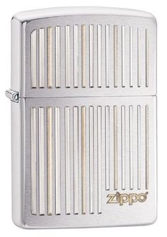 Zippo Brushed Chrome Vertical Lines Lighter