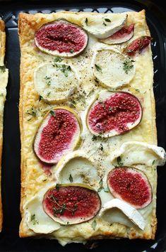 Tarta z figami i kozim serem - zamiast fig chutney z cebuli i baklazan