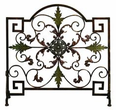 Benzara 21634 Benzara 21634 Metal FIRE SCREEN, Decorative Fireplace Screen