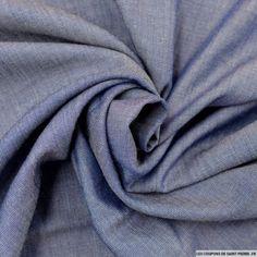 Tissu Viscose et Tencel de couleur Bleu Jean's