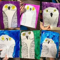 Elements of the Art Room: 1st grade Simply Cute Snowy Owls