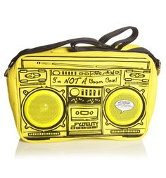 GEEK FASHION / Yellow Retro Boombox Shoulder Bag With Working Speakers From Fydelity : TruffleShuffle.com