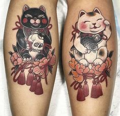Japanese Tattoo: The Ultimate Guide - Tattoo Insider - Fortune Cat Japanese Tat. - Japanese Tattoo: The Ultimate Guide – Tattoo Insider – Fortune Cat Japanese Tattoo by Som Nakb - Japanese Tattoo Women, Japanese Tattoo Symbols, Japanese Tattoo Art, Japanese Tattoo Designs, Japanese Sleeve Tattoos, Chinese Tattoos, Arabic Tattoos, Irezumi Tattoos, Tatuajes Irezumi