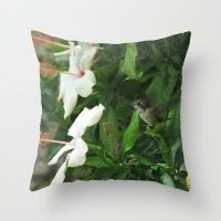 Lady Lurking in the Shade Throw Pillow