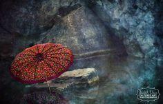 "12 x 8 Altered Art Photograph, ""The Umbrella"""