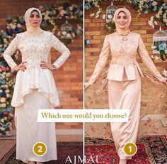 Hijab Fashion, Women's Fashion, Hijab Dress Party, Prom Dresses With Sleeves, Brokat, Mode Hijab, Kebaya, Peplum Dress, Evening Dresses