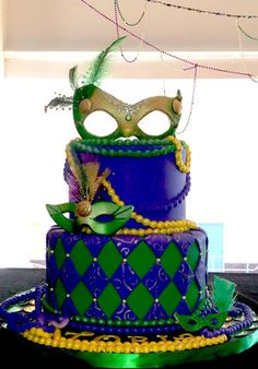 Mardi Gras themed cake ❤❤