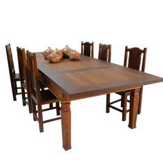 MS11 mesa de jantar rústica madeira de demolição peroba rosa móvel de madeira mesa de madeira