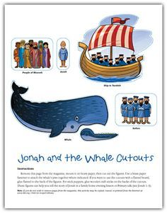 "Family Home Evening - Obedience and the story of Jonah and the Whale. Goes great with ""W"" - next week's letter in preschool..."