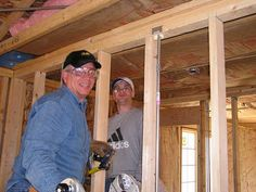 Volunteers working hard on framing the new home #aurora #oswego http://www.foxvalleyhabitat.org  Help Others and Volunteer Today!