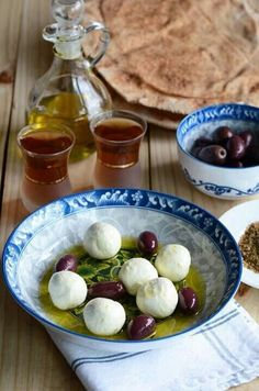 Palestinian labaneh it's a thick yogurt ball spread  think of it as the middle eastern version of cream cheese very delicious