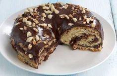 Τσουρέκι γεμιστό με Nutella & γλάσο σοκολάτας