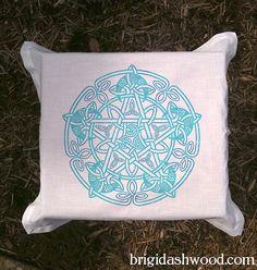 Celtic Moon Pentacle Tarot or Altar Cloth White   by BrightArrow, $25.00