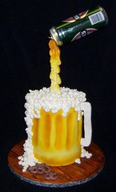 Pouring Beer Cake   Craftsy