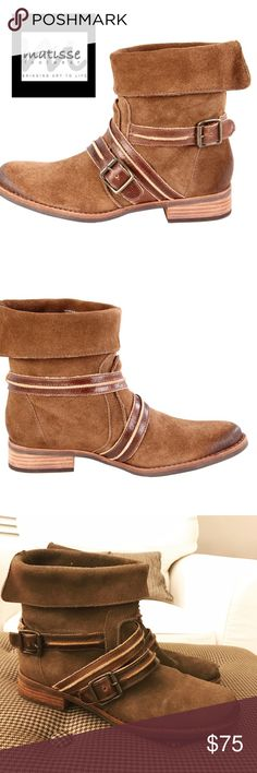 """Matisse """"Prospector"""" Boots Fabulous suede, leather booties by Matisse💕The Prospector features leather straps and buckle details. These booties will go with everything! GUC with minor signs of wear. Any questions, please ask! Matisse Shoes Ankle Boots & Booties"""
