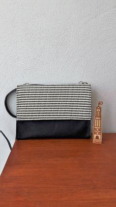 Little bag in black and white door Spoor68 op Etsy