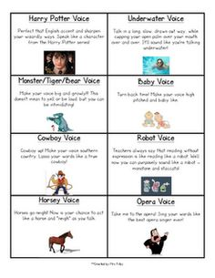 Voice cards for reading aloud!