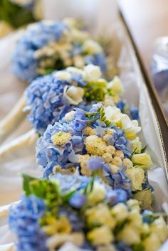 Bridesmaid bouquets. This was almost exactly like the bouquet I had on my wedding day.