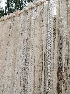 All Lace Wedding Backdrop Curtains Ivory Lace by WeddingTrousseau                                                                                                                                                     More #weddingbackdrops