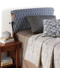 Cute! Love this headboard pillow cover project :) @HGTV HOME