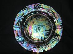 Fostoria Palm Brocade Dinner Plate ** RARE ** from aglassact on Ruby Lane
