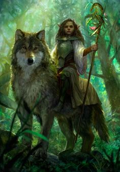 Wolf riders...is that a thing?? I guess anything's possible in a fantasy realm! Lol.