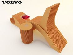 Cardboard Chair: Design Inspired by Volvo C30 Taillight