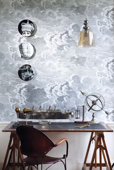 Cole and Son clouds - with Fornasetti, www.eadeswallpaper.com