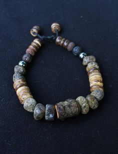 Men's Bracelet  All Natural Bracelet  Genuine Amber  by TaikaEarth