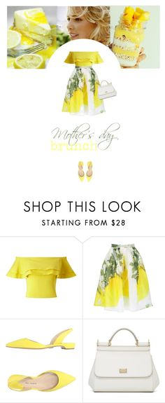 """""""Untitled #238"""" by soledestate ❤ liked on Polyvore featuring Miss Selfridge, Paul Andrew, Dolce&Gabbana, MothersDay, brunch and brunchgoals"""