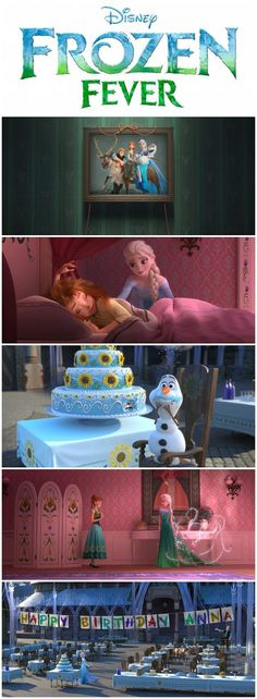 A look at images from the main scenes in Disney's Frozen Fever. This is a short, not the full sequel movie. Frozen 2 has (finally) been confirmed to be coming later.