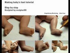 Making Baby's Feet Tutorial - YouTube