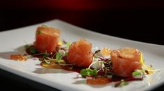 Beetroot Carpaccio with Cured Salmon